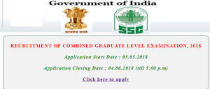 SSC CGL Recruitment 2018| Get Application Form, Syllabus & Exam date